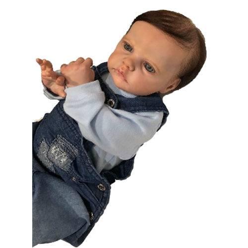 Boneca Bebê Reborn Rafael com Corpo Inteiro Siliconado