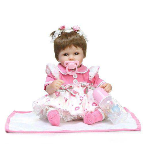 Boneca Bebê Reborn Realista 40cm - Laura