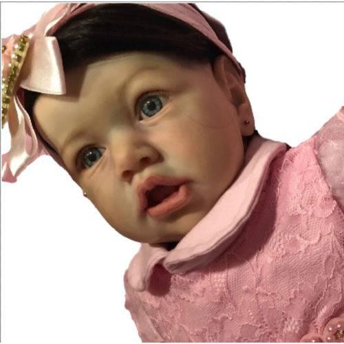 Boneca Bebê Reborn Safira Autentica com Corpo Inteiro