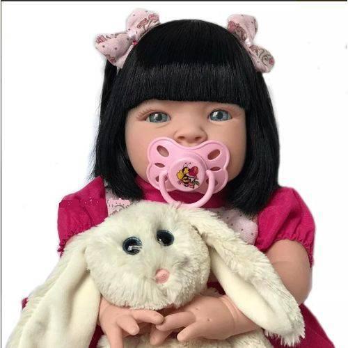 Boneca Bebê Tipo Reborn Mila com Acessórios