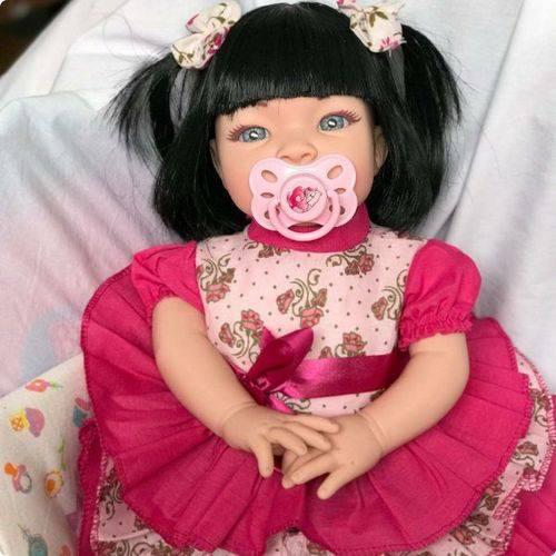 Boneca Bebê Tipo Reborn Realista - Kit Acessórios