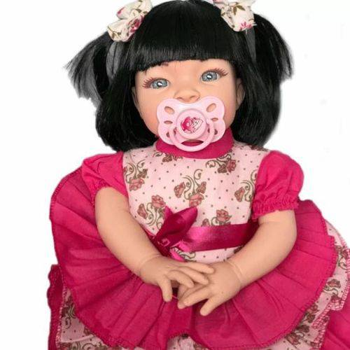 Boneca Bebê Tipo Reborn Realista Kit Acessórios