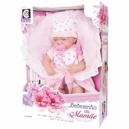 Boneca Bebezinho da Mamãe com Macacão 42cm 2082 - Cotiplás