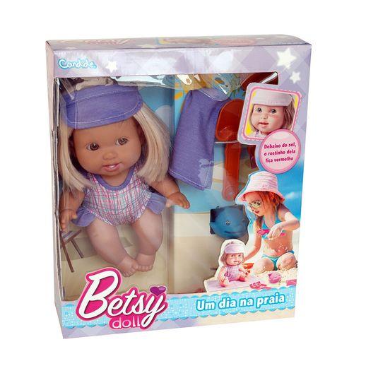 Boneca Betsy Doll um Dia na Praia Azul - Candide