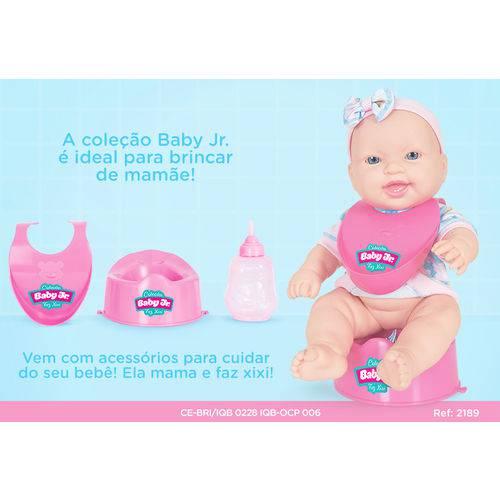 Boneca Coleção Baby Jr. Faz Xixi - Cotiplás