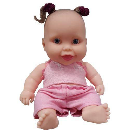 Boneca Cotiplás Coleção Bebê Mini Pedacinho - Blusa e Short Rosa