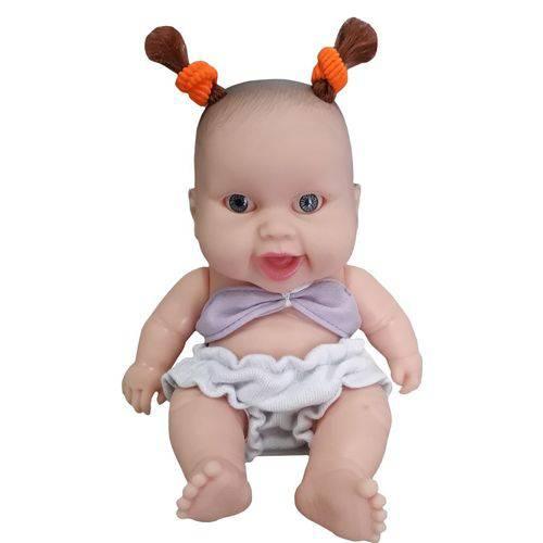 Boneca Cotiplás Coleção Bebê Mini Pedacinho - Top e Short Branco/lilás