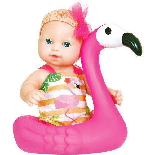 Boneca Cotiplás Play Time Banho do Bebê - Flamingo