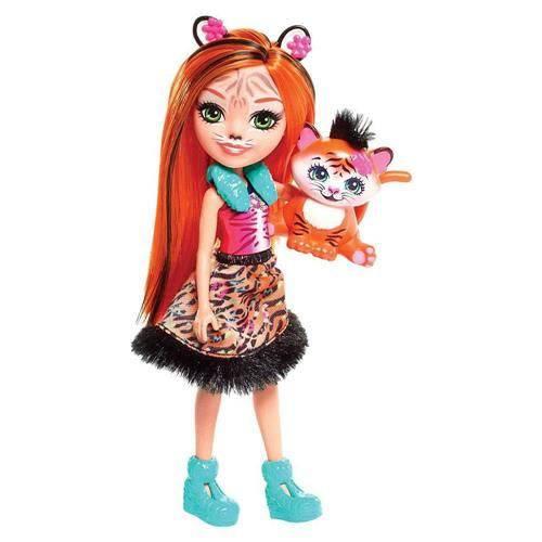 Boneca Fashion e Animal - Enchantimals - Tanzie Tiger e Tuft