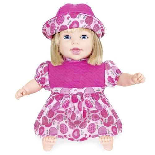 Boneca Life Baby Canta e Recita 2163 Cotiplás Rosa