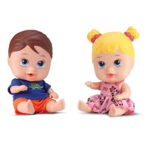 Boneca Little Dolls Gêmeos 8037 DiverToys Colorido