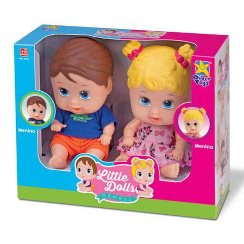 Boneca Little Dolls Gêmeos 8037 Divertoys