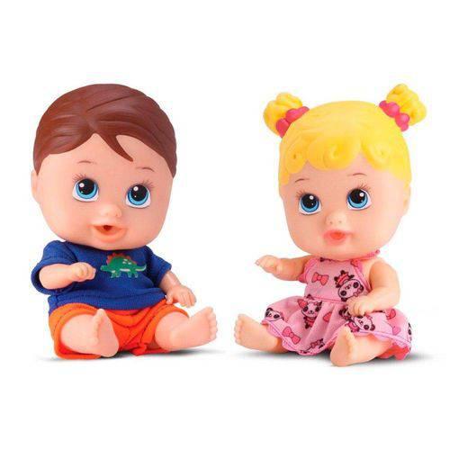 Boneca Little Dolls Gemeos Diver Toys 8037