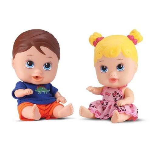 Boneca Little Dolls Gêmeos- Menina e Menino - Divertoys - DIVERTOYS
