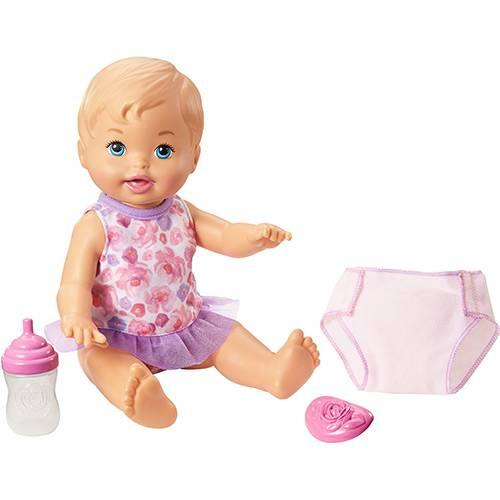 Boneca Little Mommy Bebê Faz Xixi Hora de Fazer Xixi Loira Fbc88/Fbc89 - Mattel