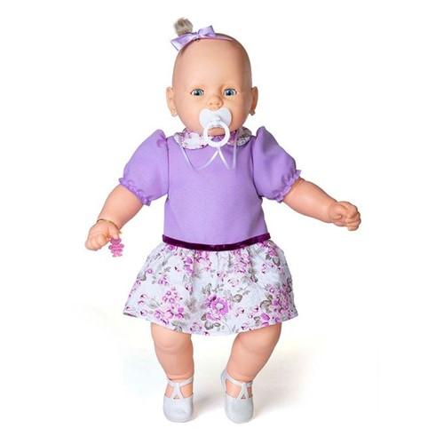Boneca Meu Bebê Branco - Vestido Lilás - Estrela - ESTRELA