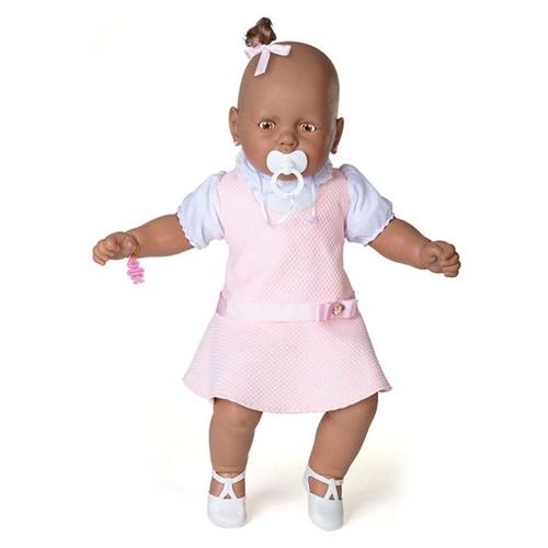 Boneca Meu Bebê Negro - Vestido Rosa - Estrela - ESTRELA