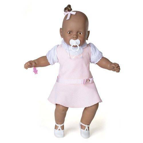 Boneca Meu Bebê Negro - Vestido Rosa - Estrela