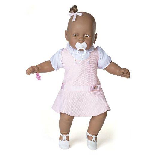 Boneca Meu Bebê Negro Vestido Rosa - Estrela