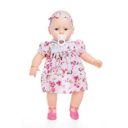 Boneca Meu Bebê Vestido Rosa Florido - Estrela
