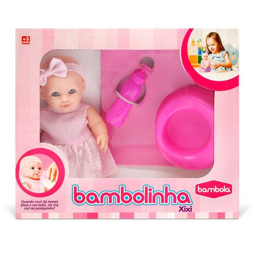Boneca Pequena Bambolinha Xixi Bambola 22 Cm