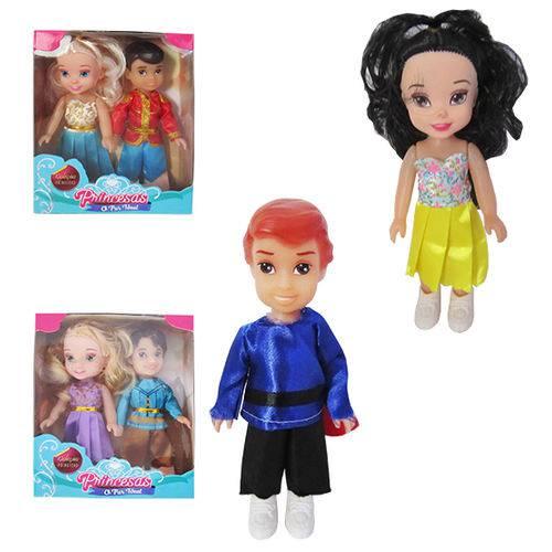 Boneca Princesas o Par Ideal com 2 Pecas Sortidos na Caixa