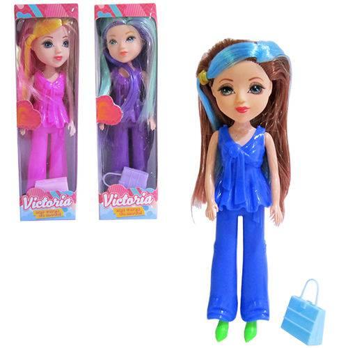 Boneca Victoria com Bolsa Sortidas na Caixa