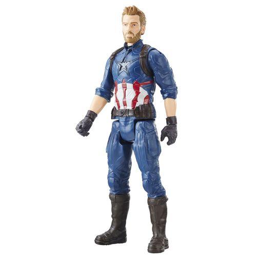 Boneco Avengers Infinity War - Titan Hero Series Capitão América - Hasbro