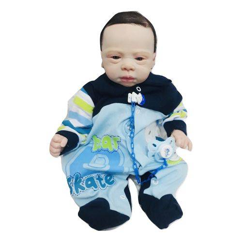 Boneco Bebê Reborn Felipe Molde Importado Autentico