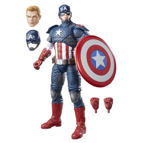 Boneco Capitão América Marvel Legends Hasbro