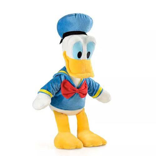 Boneco de Pelúcia Donald C/ Som 33 Cm - Branco e Azul - Br334 - Multikids