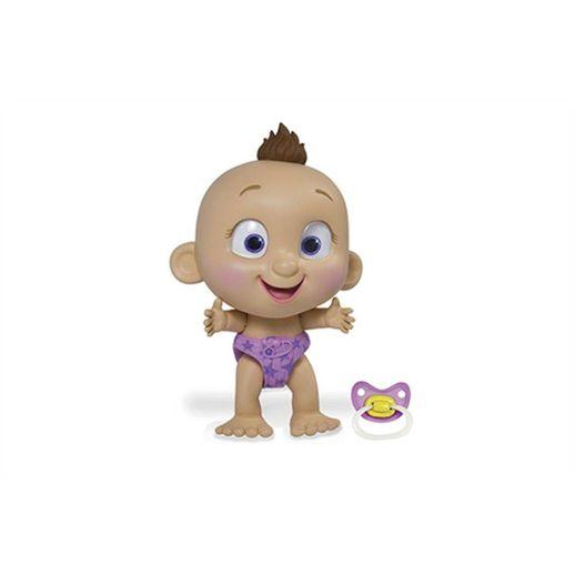Boneco Interativo Tiny Tots Fralda Roxa - Candide