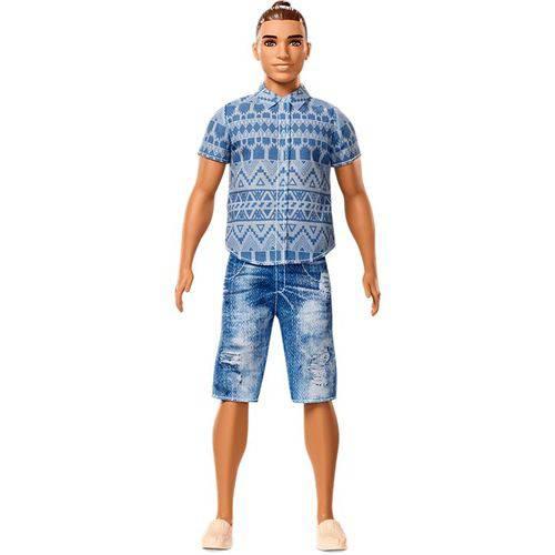 Boneco Ken Fashionistas Distressed Denim - Mattel