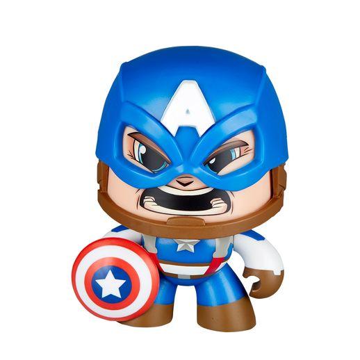 Boneco Mighty Muggs Marvel Capitão América - Hasbro