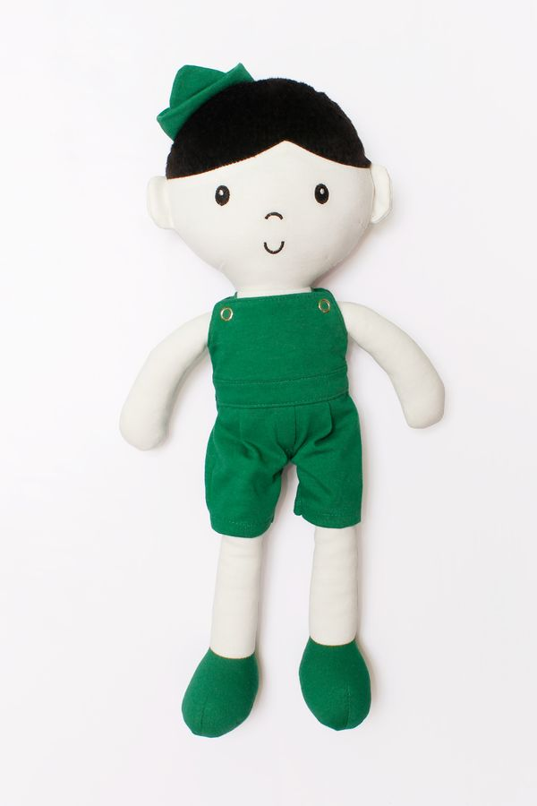 Boneco Pano Dudu Boneco de Pano Dudu Verde Bandeira U