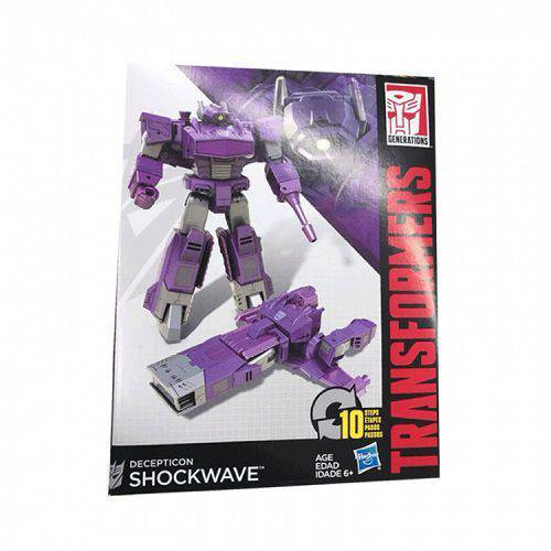 Boneco Transformers Generations CYBER 7 Shockwave Hasbro B0785 10814