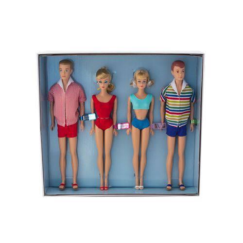 Bonecos Barbie, Ken, Midge e Allan Collector Double Date 50th Anniversary Giftset - Mattel