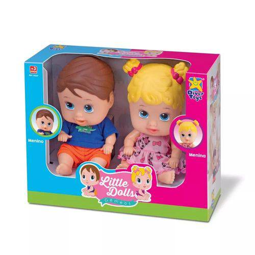 Bonecos Gêmeos Menina e Menino Little Dolls
