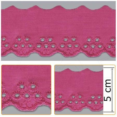 Bordado Inglês BP013 008 Pink - 5 Cm