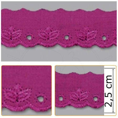 Bordado Inglês BP059 008 Pink - 2,5 Cm
