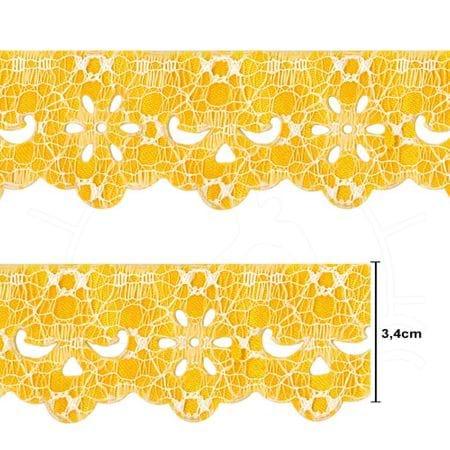 Bordado Marilda Coleção Requinte Mod. 1203 Lasy - 10 Metros 101.16 Amarelo