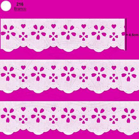 Bordado Marilda Mod. 95 Ultra Coração C/ 10m - Branco
