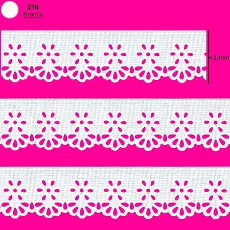 Bordado Marilda Mod. 98 Mini Lasynha Crochê C/ 10m - Branco
