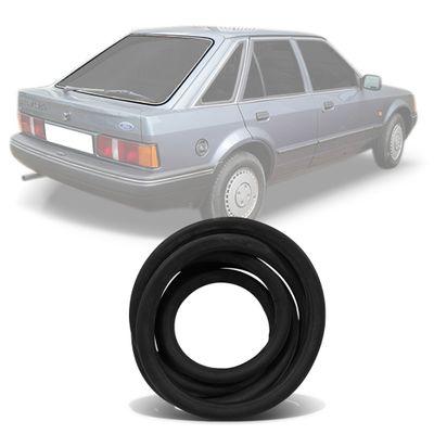Borracha do Vidro Traseiro Vigia - Escort 1983 a 1992 - com Encaixe para Friso de Alumínio