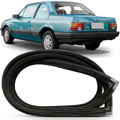 Borracha do Vidro Traseiro Vigia - Monza Sedan 1982 a 1990 - com Encaixe para Friso