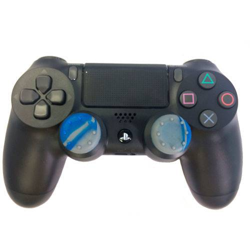 Borracha Grip para Botão Analógico Dualshock 4 o Par - Azul/Cinza