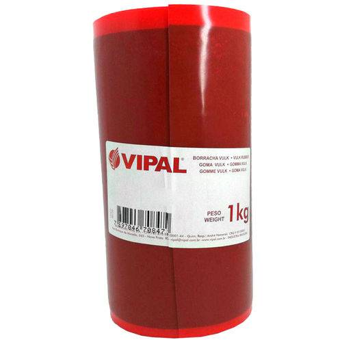 Borracha Vulk Vulcanizadora - Vulcanite 160 X 1,0mm Rolo de 1kg-vipal-403001