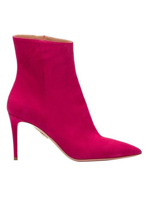 Bota Ankle Boot Alma 85 de Couro Rosa Tamanho 35