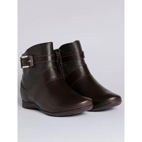 Bota Ankle Boot Feminina Comfortflex Marrom Escuro 36