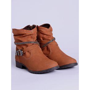 Bota Ankle Boot Feminina Dakota Caramelo 40